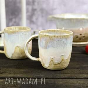 średni kubek ceramiczny nowoczesna klasyka / jasny beż 340 ml, ceramika
