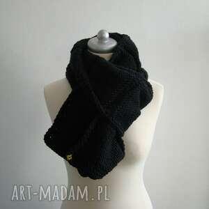 hand made szaliki czarny szal