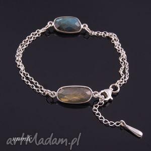 bransoletka z labradorytów 2 - biżuteria, srebro