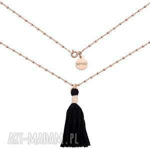 naszyjnik z różowego złota zdobiony chwostem - łańcuszek