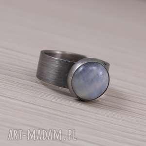 Kamień księżycowy i srebro 2810 - pierścionek 11, kamień-księżycowy,