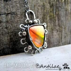 koloretako - ammolit, srebro - ammolit, biżuteria, srebro, naszyjnik