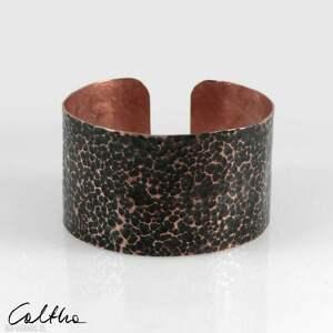 lawa - miedziana bransoleta 210605-01, bransoletka, szeroka