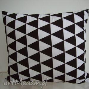 hand-made poduszki poduszka w czarno- białe romby