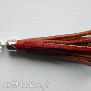 breloki skórzany brelok do kluczy czerwony, brelok, breloczek, przywieszka