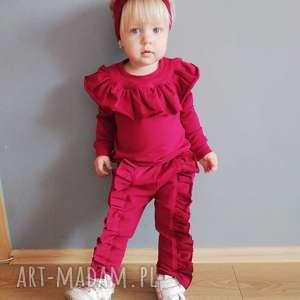 mrugala dres dla dziewczynki z falbankami 116-146, dres, bluza, falbankami, falbanki