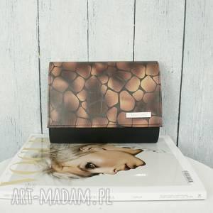 kopertówka manzana animal print, manzana, kopertówka, elegancka, ekoskóra