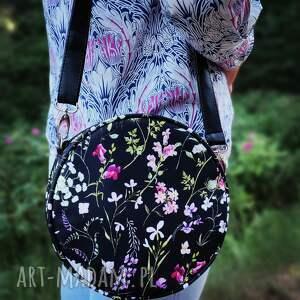 round bag - polne kwiaty, elegancka, nowoczesna, pakowna, prezent, święta