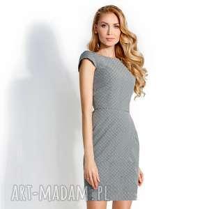 Sukienka Sara w Geometryczny wzór Roz. 38; 40, ołówkowa-sukienka, dopasowana-sukienka