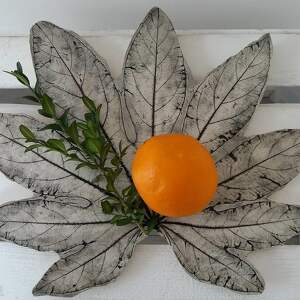 mega dekoracyjna patera liść - ,patera,ceramiczna,roślinna,dekoracyjny,talerz,ekologiczny,