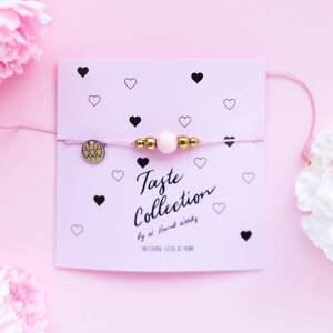 whw taste pink marble, sznurkowa, sznureczkowa, delikatna, makrama, marmur
