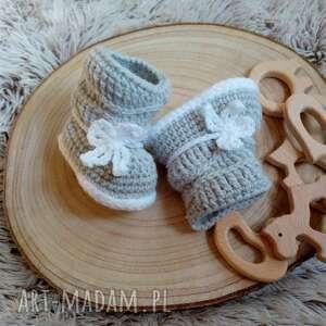 ręcznie zrobione buciki kozaczki madison