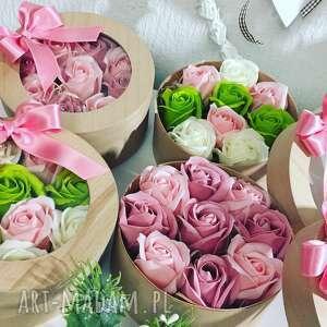 Box flowers with soap kwiaty z mydełka ręczna robota super