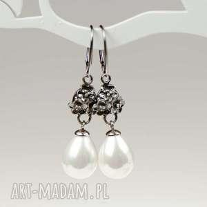 eleganckie kolczyki z perłami model erwina a802, perły, prezent ona