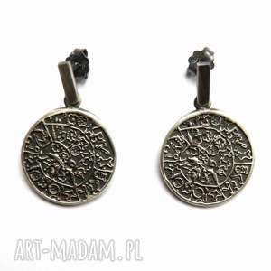dyski greckie - kolczyki srebrne