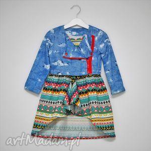 Tunika z asymetrycznym etno dołem, sukienka, tunika