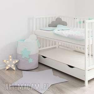 ręcznie robione pokoik dziecka kosz na zabawki słodkie sny jasna mięta