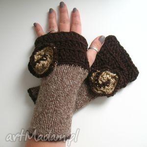 rękawiczki mitenki - rękawiczki, mitenki, dodatki, akcesoria, włóczkowe