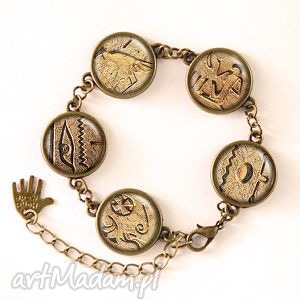 handmade bransoletki hieroglify - bransoletka