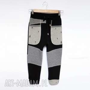 ONLY ONE No 017 - spodnie dziecięce 122 cm, eco, recykling, dres, bawełna, las