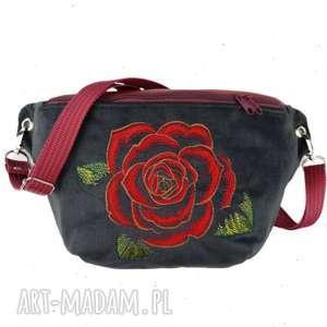 nerka xxl róża - ,nerkazróżą,nerkabotaniczna,romantyczna,saszetka,torebka,vintage,