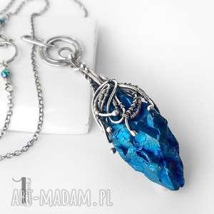 handmade naszyjniki frozen ii srebrny naszyjnik z kwarcem tytanowym