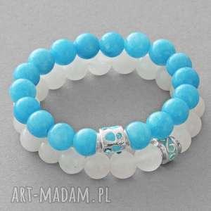 moon & blue jade set with beads lavoga - koralik