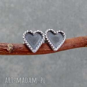 sztyfty mini serduszka, sztyfty, serce, drobne, romantyczne, srebro