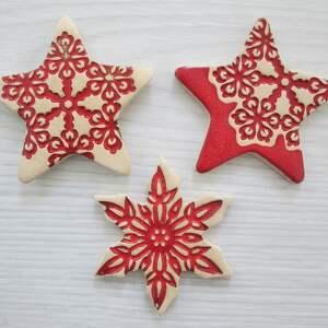 magnesy zestaw 3 magnesów upominków, ceramiczne, świąteczne