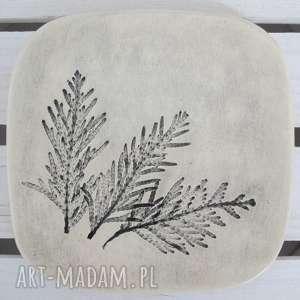 talerzyk roślinny, ceramiczna, podstawka, fusetka, roślinna, ceramika