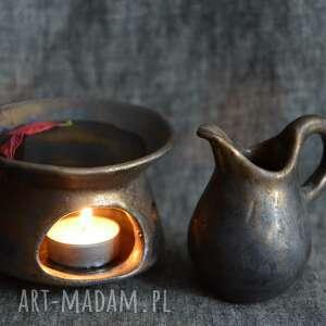 kominek do olejków z dzbanuszkiem na dolewkę, olejek, zapach, orientalny