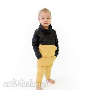 ubranka spodnie piklook, spodnie, dopasowane, kieszenie, musztardowe, oryginalne dla