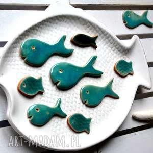 10 x rybka ceramika, wieloryb, ryba, ryby, ceramiczne, morze