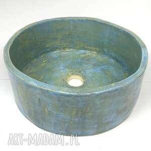 ceramiczna nablatowa umywalka błękitna studnia, umywalka