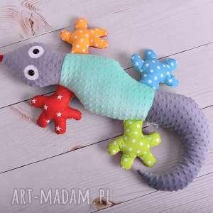 Prezent Poduszka dziecięca jaszczurka, poduszka-minky, maskotka-dla-dziecka