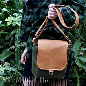 safari vegan zieleń rudy - torba, torebka, vege, vegan, zielony, lato