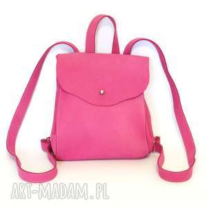 plecak dla dziewczynki w kolorze fuksji, plecak, polska, dziewczynka, skóra