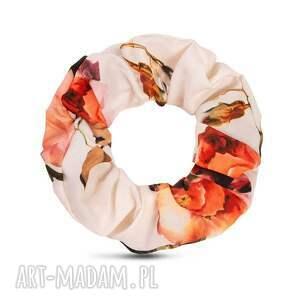 gumka/scrunchie rosario, gumka do włosów, scrunchie, w kwiaty