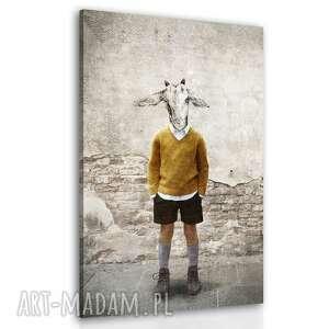 obraz drukowany na płótnie koziołek staś w stylu vintage 80x120cm
