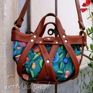 na ramię koszyk rudy ptaszki, torba, torebka, koszyk, wakacje torebki