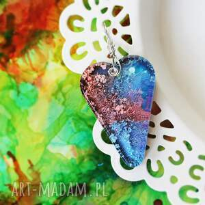 hand-made wisiorki serce galaxy
