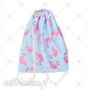 worek - bawełniany plecak 35x40cm flamingi, worek, plecak, plecaki