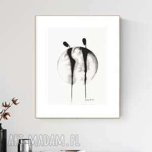 plakaty grafika 30x40 cm wykonana ręcznie, abstrakcja, obraz do salonu, 2618859
