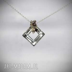 naszyjnik srebrny ze swarovskim - srebro, swarovski
