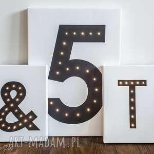 Prezent ŚWIECĄCA LITERA LED personalizowany obraz lampa prezent na urodziny dekoracja