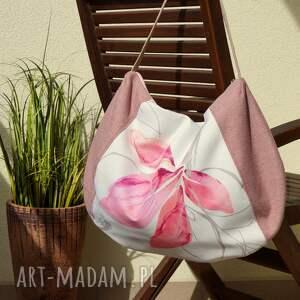 unikalny, worek na ramię, torba, worek, wiosna lato, kwiatowa, prezent, polski
