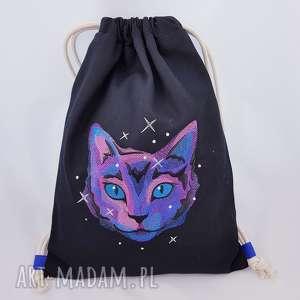ręcznie zrobione plecaki plecak worek kosmiczny kot