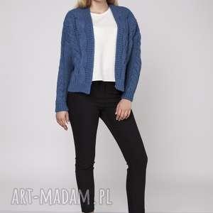 swetry sweter bez zapięcia, swe150 jeans mkm, gruby, sweter, kardigan, narzutka