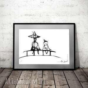 grafika 144 - muminki, na ścianę, dekoracja dla dziecka