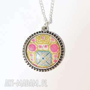 naszyjnik, medalion - folkowy 2 maroko, medalion
